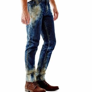 New GUESS Slim Straight Jeans in Cloudburst Wash